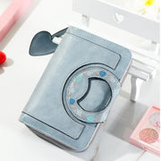 Women 8 Cards Holder Zipper Short Wallet