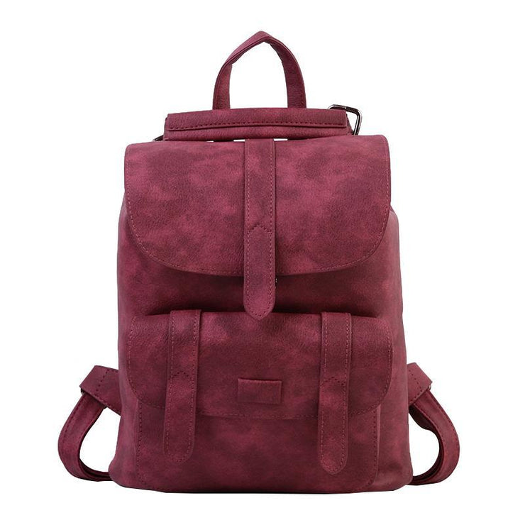 Lady Leather Anti-theft Casual Backpack