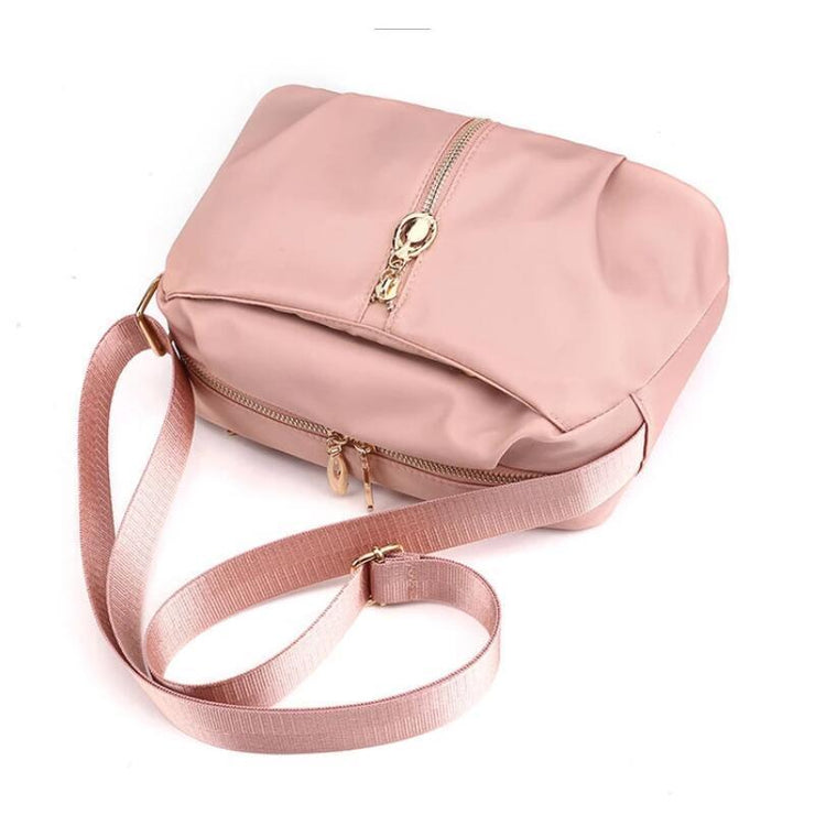 Nylon Solid Large Capacity Waterproof Zipper Crossbody Bags