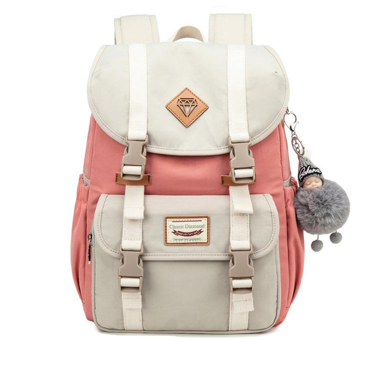 Women's Classic Nylon Middle School Student Travel Backpack