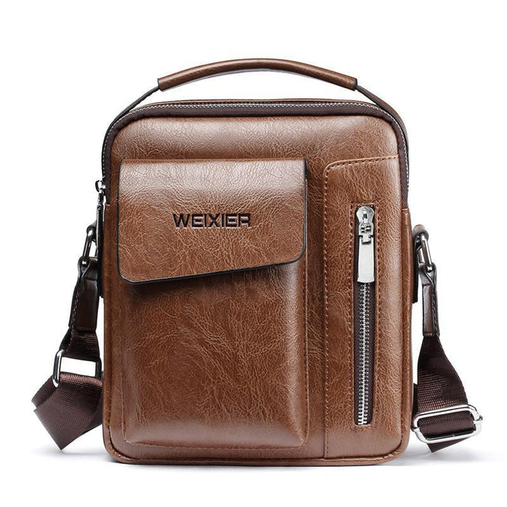 Men's Casual Business Leather Shoulder Bag Crossbody Bags