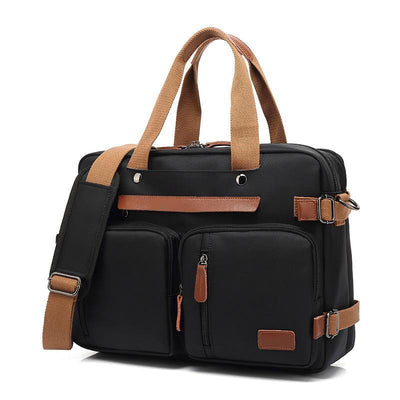 Men's USB Multifunctional Waterproof Briefcase Handbags Laptop Backpack Crossbody Bags