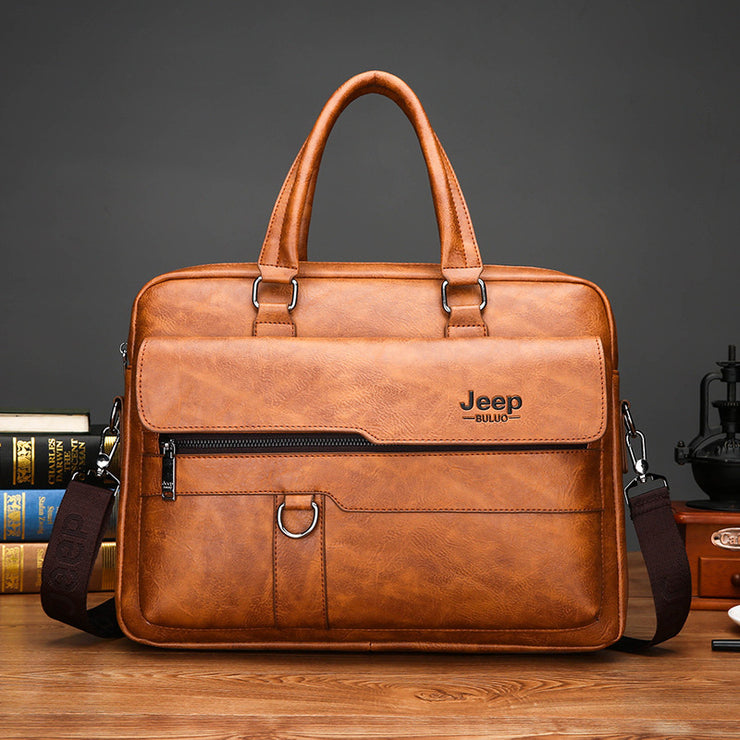 Men's bag new retro briefcase