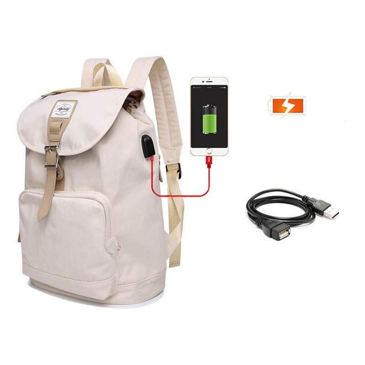 Women's Fashion USB Charging Travel Laptop Backpack