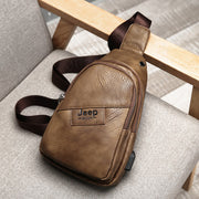 Men's charging chest bag male Korean version of the trend of retro casual shoulder Messenger bag