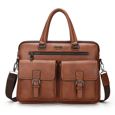 Men's new casual fashion polyester shoulder bag handbag