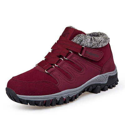 Women's Winter Warm Plus Velvet Thickening Sports Anti-Slip Elderly Walking Shoes