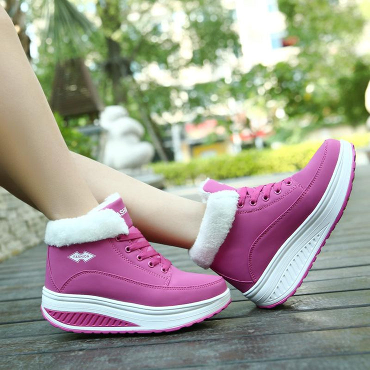 Women's winter new comfortable cotton and linen shoes women's platform shoes warm and velvet sports boots