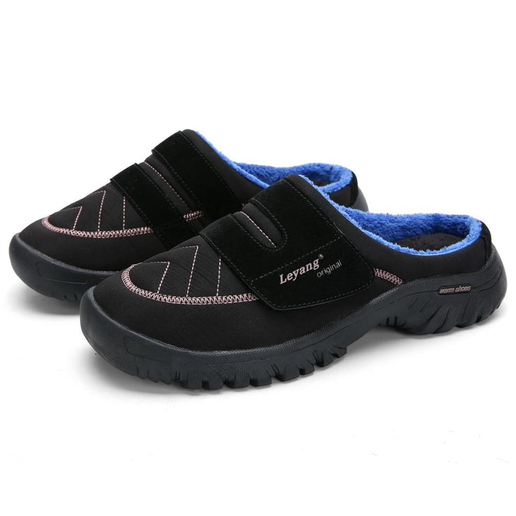 Men's plus velvet warm cotton shoes winter slippers