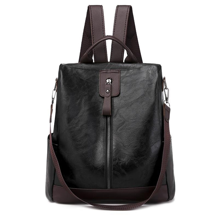 Women PU Travel Multi-function  Anti-theft Backpack