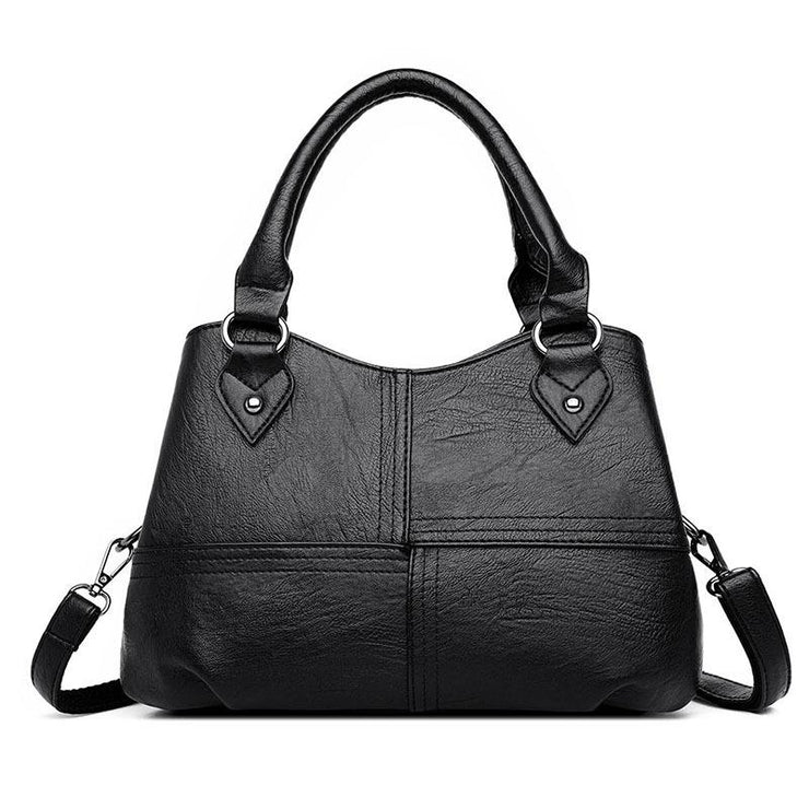 Women's fashion multi-pocket trend wild sheepskin stitching ladies shoulder bag