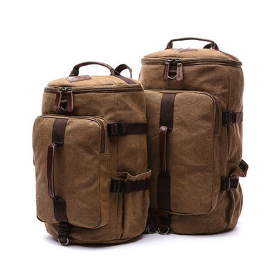 Men's Casual Large-capacity Bucket Canvas School Travel Bag