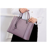 Women's Fashion Wild Crocodile Pattern Handbag Leather Crossbody Bags