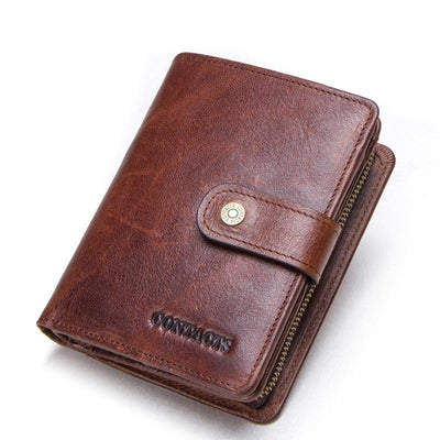 Men's Crazy Horse Leather Multifunctional Wallet Purse