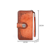 Women retro cowhide multi-card slot wallet