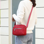 Women's Water-Repellent Nylon Diamond Crossbody Bags Phone Bags