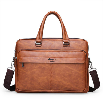 Foreign trade men's bag 2019 new wave Korean business briefcase hand bag shoulder men's large capacity computer messenger bag