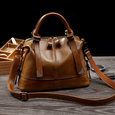 Women's Vintage PU Leather Handbag Formal Crossbody Bag