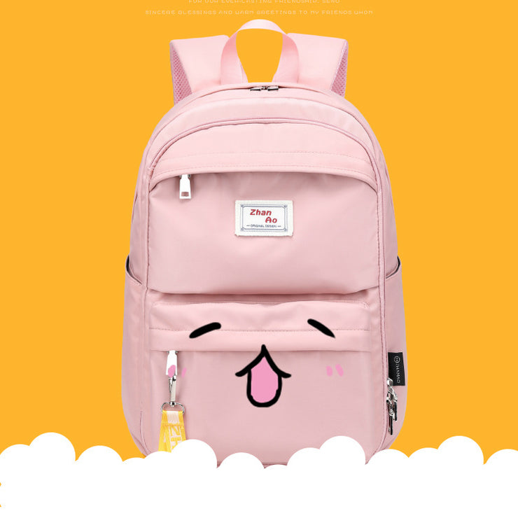 Women's Backpack Female Solid Color Schoolbag Campus Backpack Casual Travel Bag