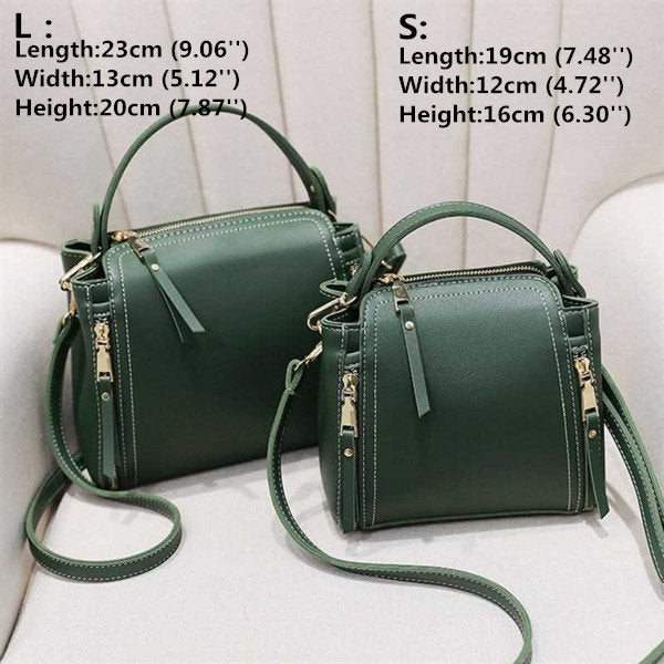 Women's Leisure Solid Bucket Bags Faux Leather Large Capacity Crossbody Bags