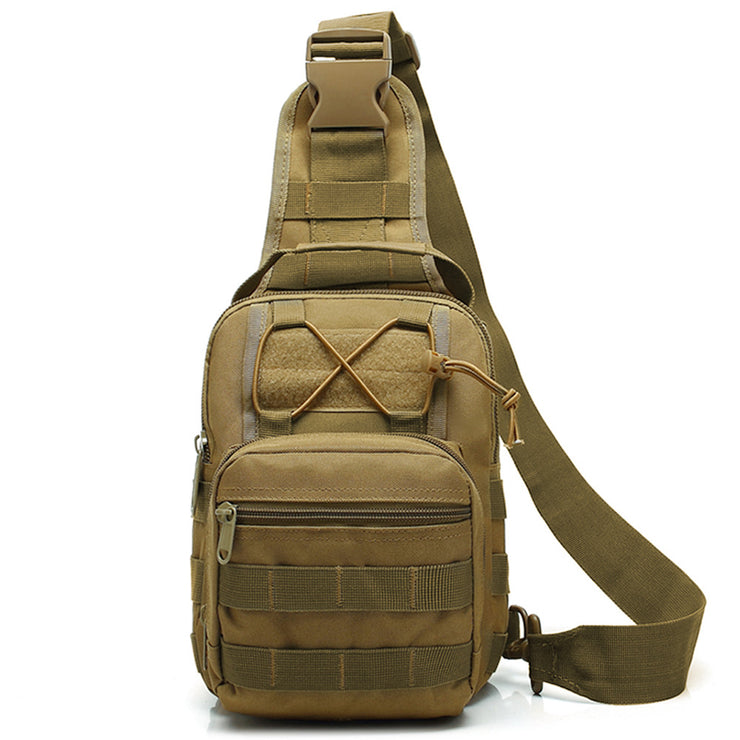Men's shoulder tactical chest bag military fan tactical chest bag shoulder leisure shoulder bag outdoor sports riding chest bag