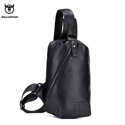 Captain cow leather BULLCAPTAIN head layer cowhide male leather shoulder slung casual leather chest bag wholesale