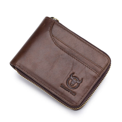 Men's BULLCAPTAIN RFID new wallet leather coin purse designer brand wallet clutch leather wallet wallet card holder
