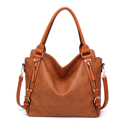 Women's PU fashion generous handbag shoulder bag