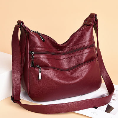 Women's Soft Leather Wild Large Capacity Messenger Bags