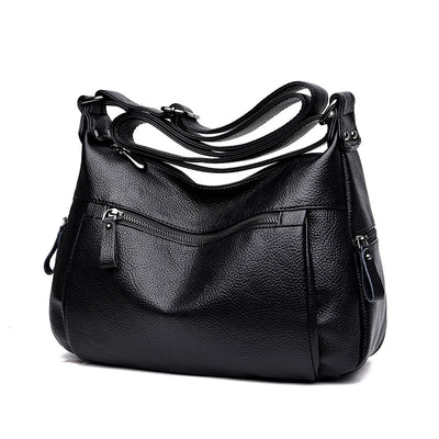 Women's soft leather wild large capacity shoulder bag