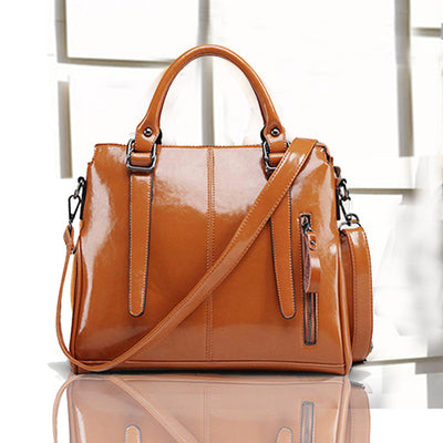 Women's leather shoulder diagonal bag handbags