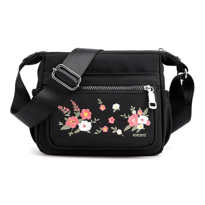 Women's Embroidered Simple Nylon Shoulder Handbag New Wild Shopping Diagonal Backpack