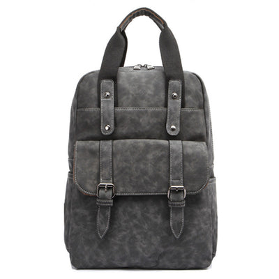 Men's pu shoulder bag schoolbag fashion casual backpack bag