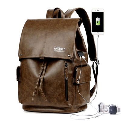 Men's casual shoulder bag backpack schoolbag high-capacity computer bag fashion bags