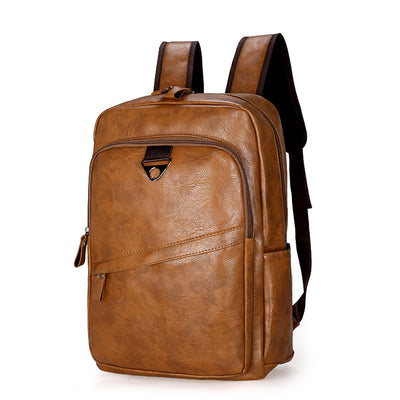 Men's soft leather man bag schoolbag large capacity outdoor sports travel bag pu leather