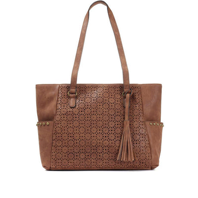 Women's Floral Cut Out Tote Bag