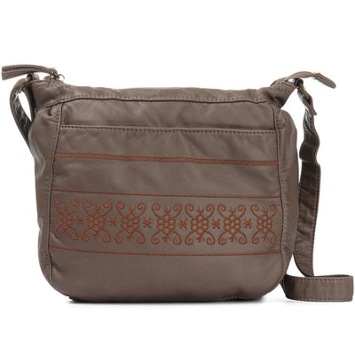 Women's Embroidered Cross-Body Bag
