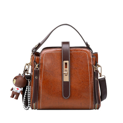 Women's  retro  leather handbag  messenger bag