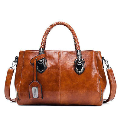 Women's Fashion Solid Multi-pocket Large Capacity Zipper Handbags