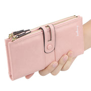 Genuine Leather Female Long Wallet Women Zipper Purse Coin Purse Money Phone Bag RFID