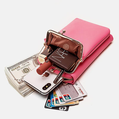 Women 9 Card Slots Phone Bag Solid Crossbody Bag ( Buy 2 Get Free Shipping )