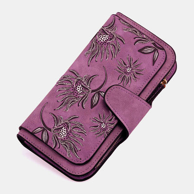 Women Multi-slots Card Holder Printed National Long Wallet Purse