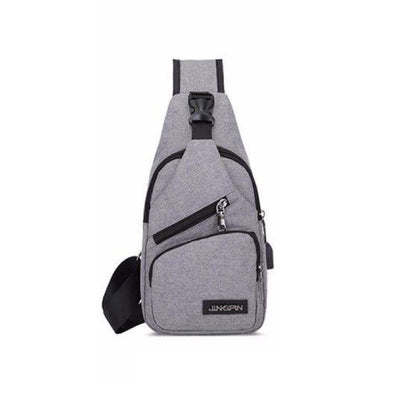 Anti-theft Design Multifunction Chest Pack USB Charging Port Unisex Travel Polyester Crossbody Sling Shoulder Bags