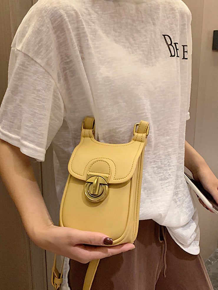 Casual Solid Phone Bag Crossbody Bag
