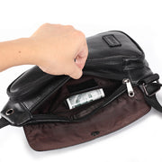 Men's Genuine Leather Travel Crossbody Chest Bag