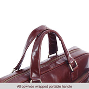 Men's Genuine leatherCasual Cross Body Laptop Briefcase Bag