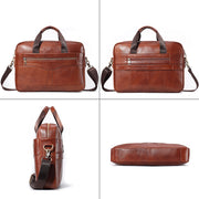 Men's Genuine Leather High Quality Luxury Business Messenger Bag