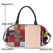 Women's Bohemian Large Capacity Genuine Leather Patchwork Handmade Crossbody Bags