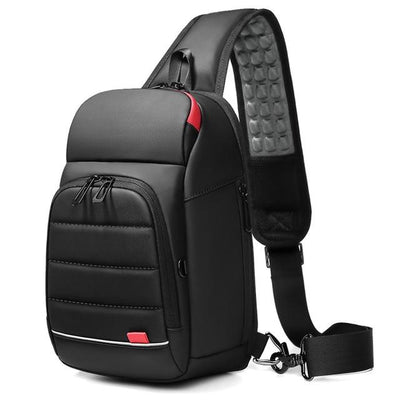 Men's USB Charging Chest Bag Crossbody Bag