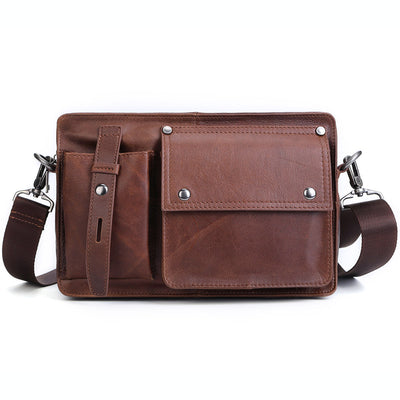 Men's Business Travel Retro Motorcycle Street Casual Fashion Messenger Shoulder Crossbody Bag